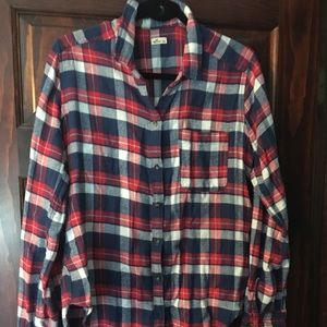 Hollister plaid  button down shirt (EUC)